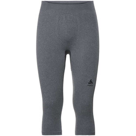 Odlo Suw Performance Warm Pantaloni a 3/4 Uomo, grey melange/black